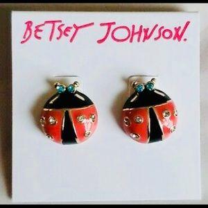💕Betsey Johnson💕 Ladybug Earrings Authentic